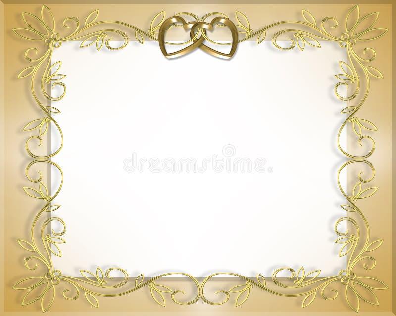 Marco de la boda o de la tarjeta del día de San Valentín   ilustración del vector