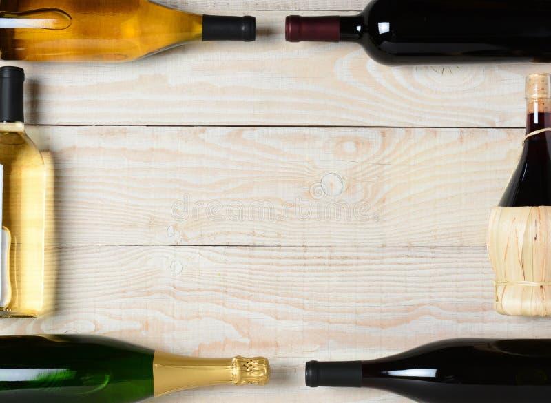 Marco de la botella de vino fotografía de archivo libre de regalías