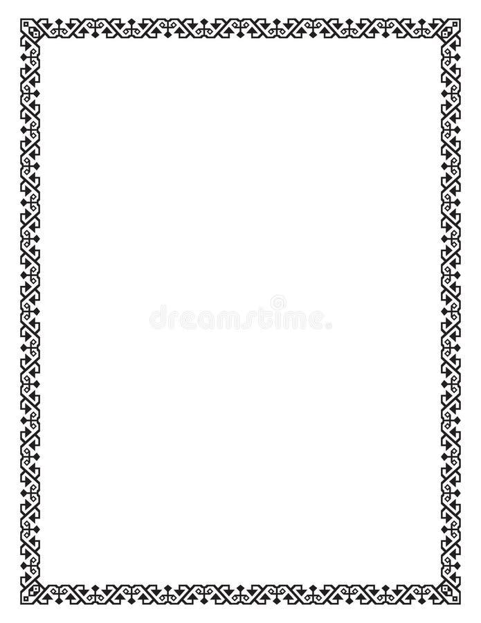 Marco de la casilla negra, formas geométricas Tamaño de la letra libre illustration