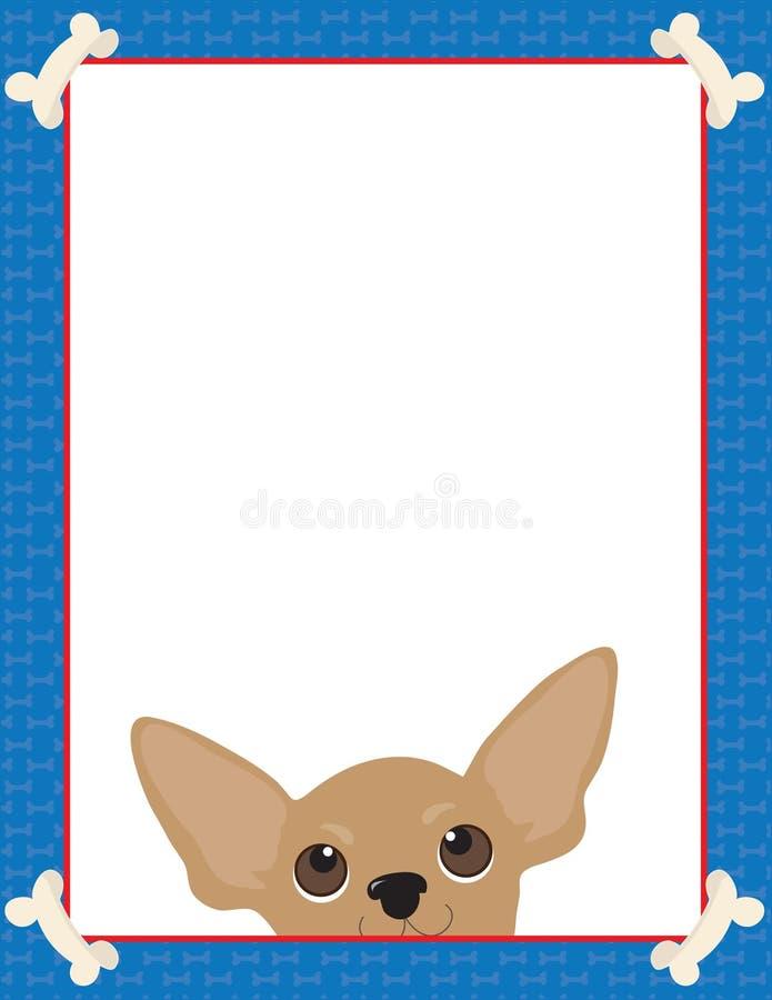 Marco de la chihuahua stock de ilustración
