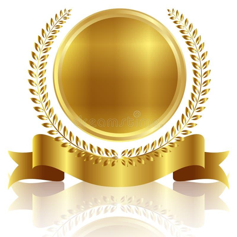 Marco De La Cinta De La Medalla Ilustración del Vector - Ilustración ...
