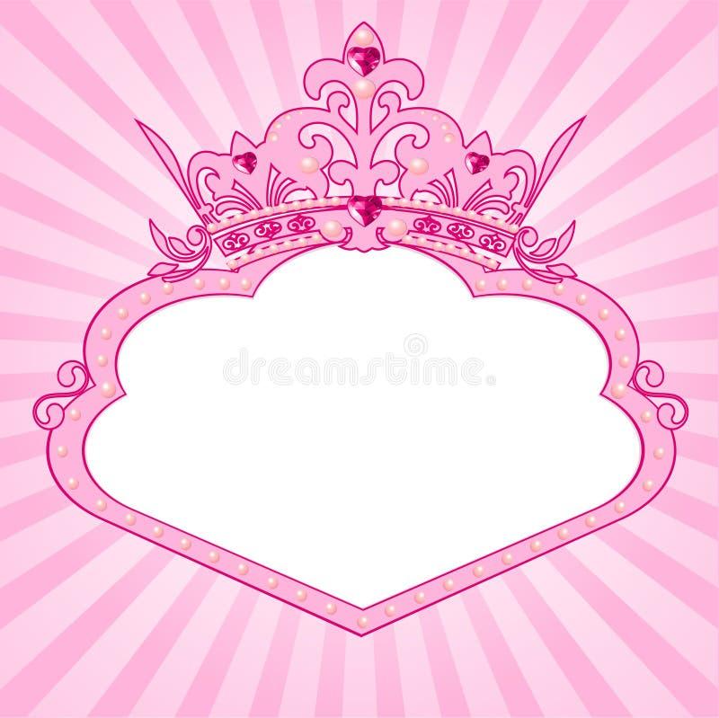 Marco de la corona de la princesa ilustración del vector