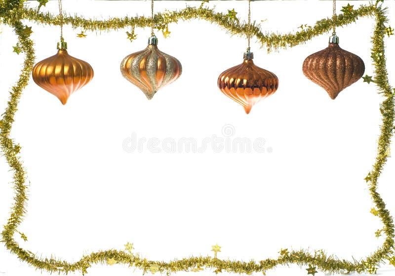 Marco de la decoración de la Navidad foto de archivo
