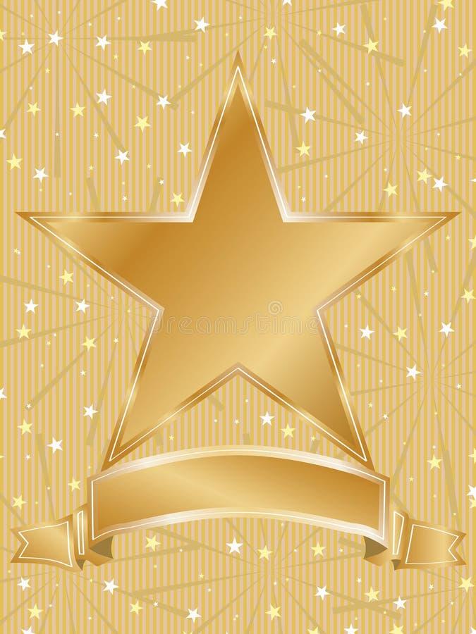Marco de la estrella de la invitación stock de ilustración