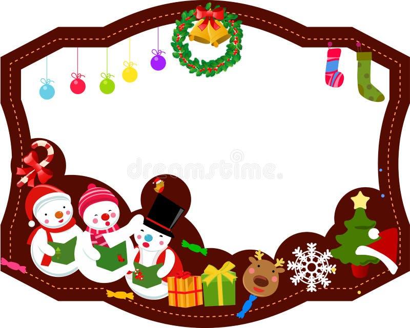 Marco de la Feliz Navidad stock de ilustración