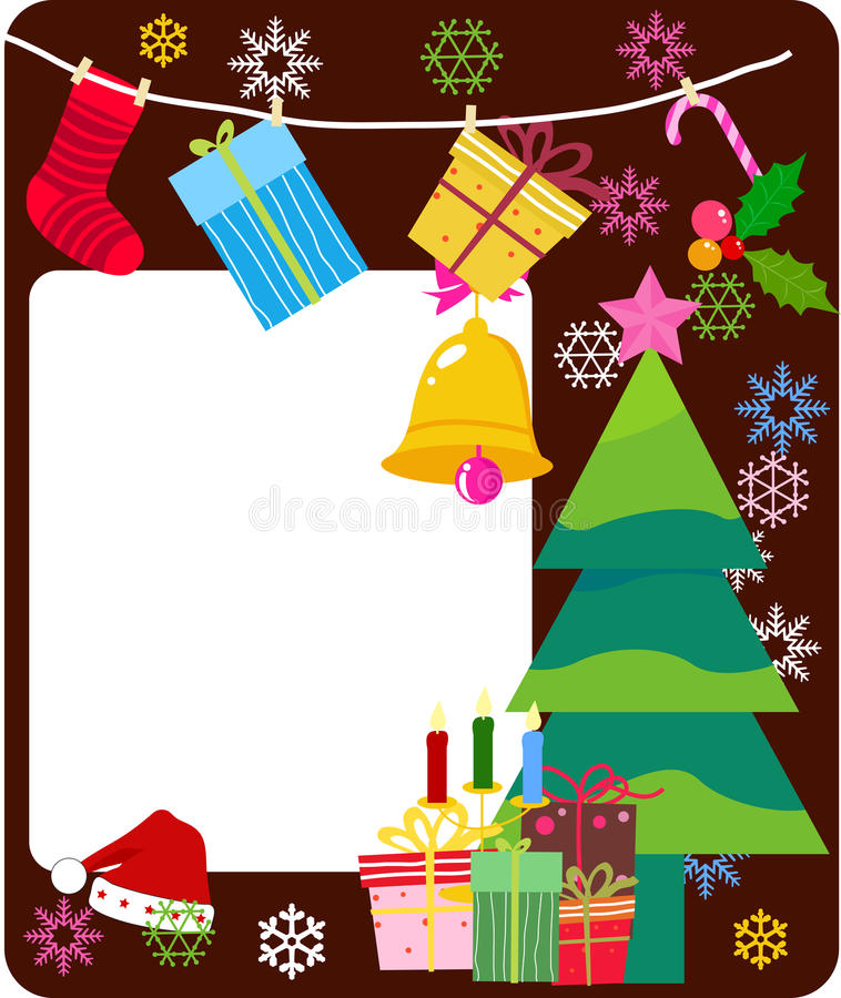 Marco de la Feliz Navidad ilustración del vector