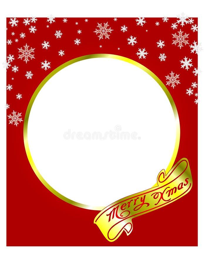 Marco de la Feliz Navidad con los copos de nieve Ilustración del vector libre illustration