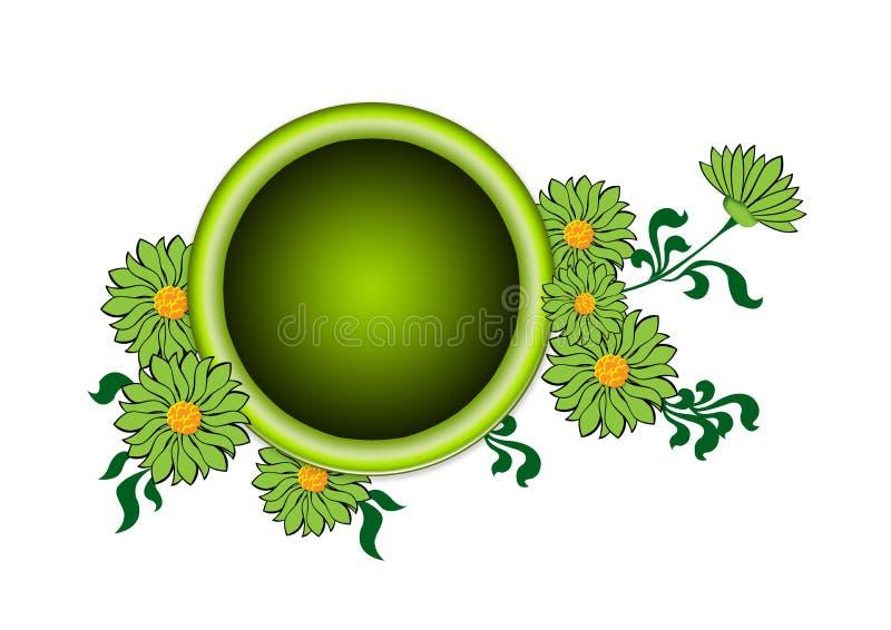 Marco de la flor stock de ilustración