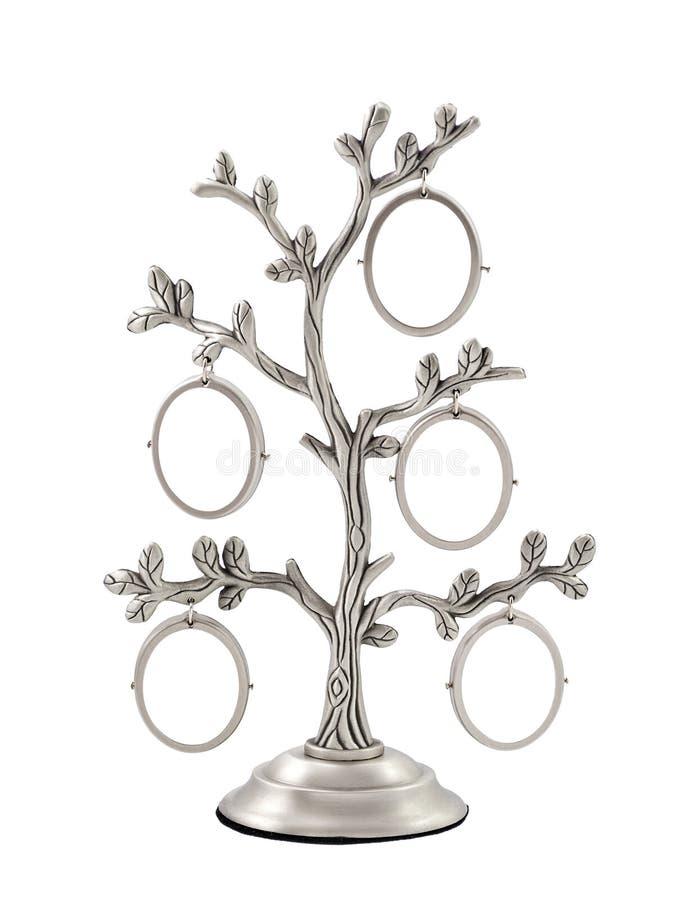 Marco de la foto de la plata del árbol de familia imágenes de archivo libres de regalías