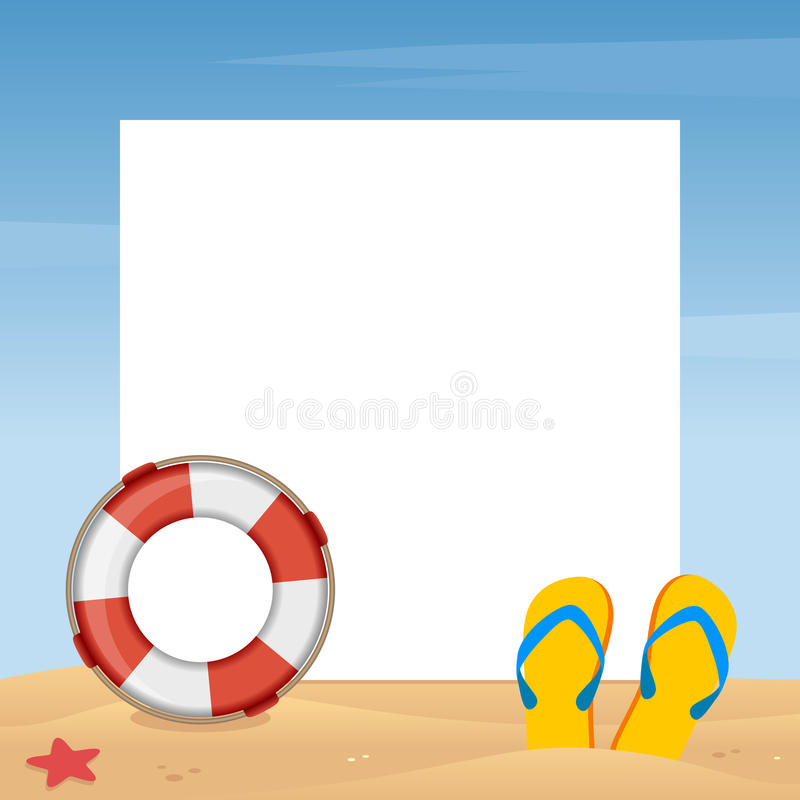 Marco de la foto de las vacaciones de verano ilustración del vector