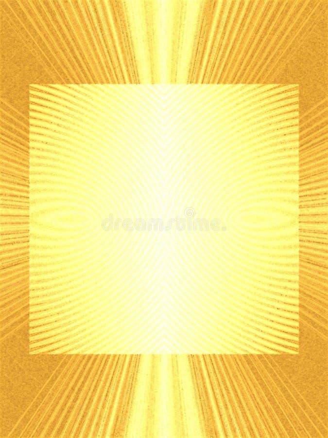 Marco de la foto de Lightrays del oro fotografía de archivo libre de regalías