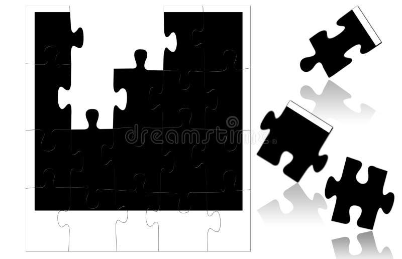 Marco de la foto del rompecabezas stock de ilustración