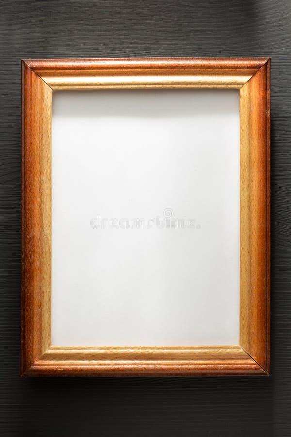 Marco de la foto en la madera foto de archivo libre de regalías