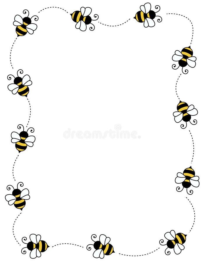 Marco de la frontera de la abeja stock de ilustración
