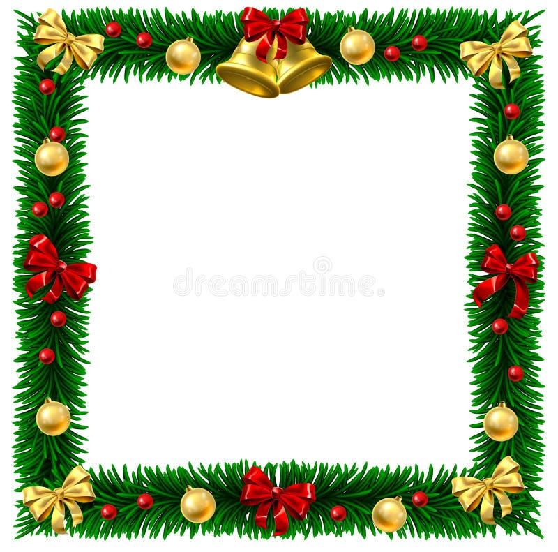 Marco de la frontera de la guirnalda de la Navidad libre illustration