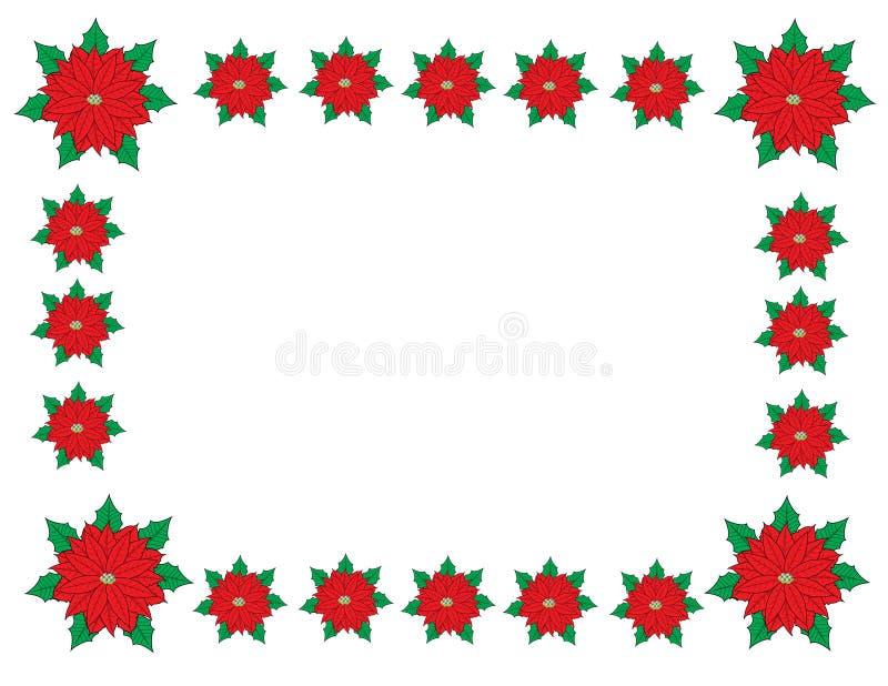 Marco de la frontera de la Navidad foto de archivo