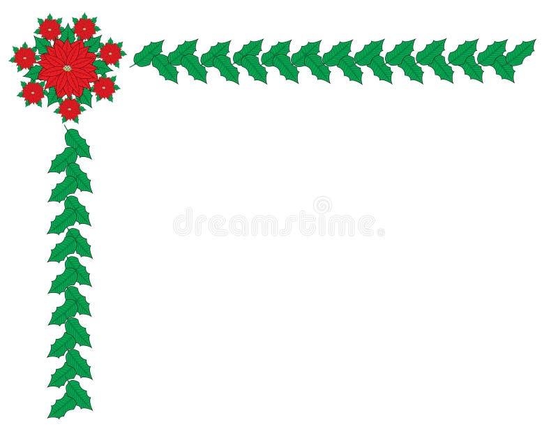 Marco de la frontera de la Navidad imagenes de archivo