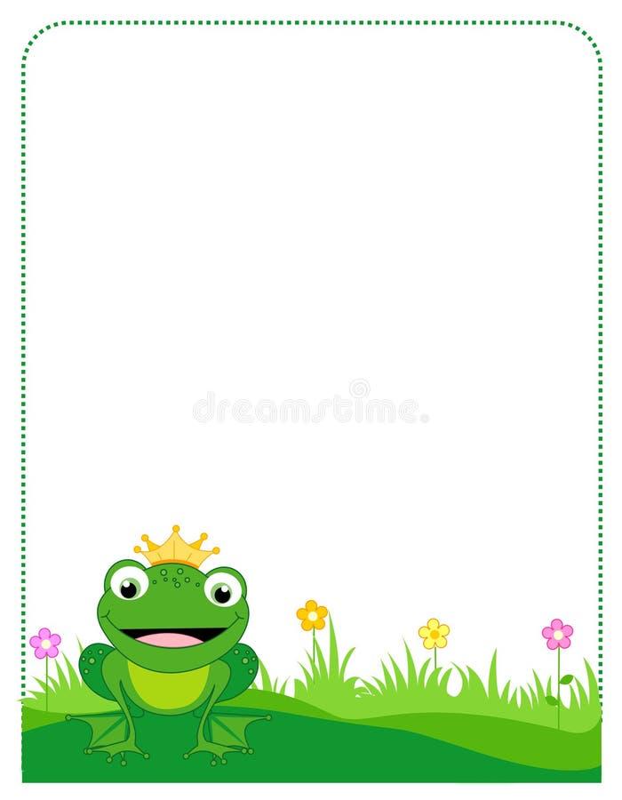 Marco de la frontera de la rana ilustración del vector