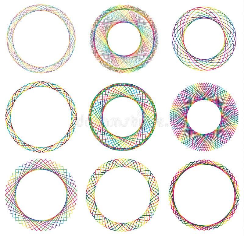 Marco de la frontera del círculo ilustración del vector