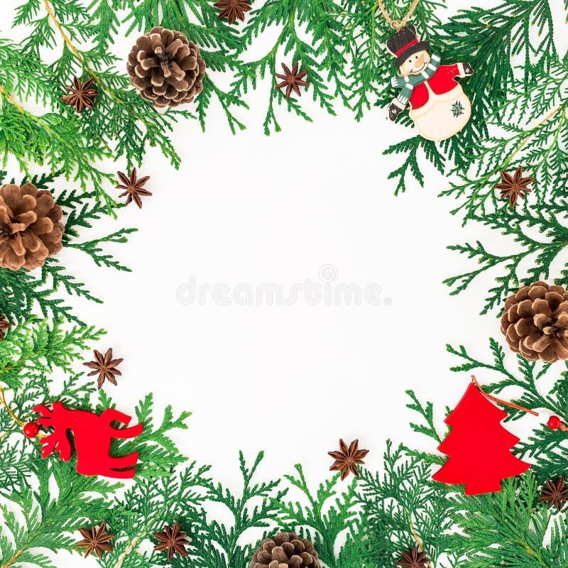 Marco De La Frontera De La Navidad De Los árboles Del Invierno, De ...
