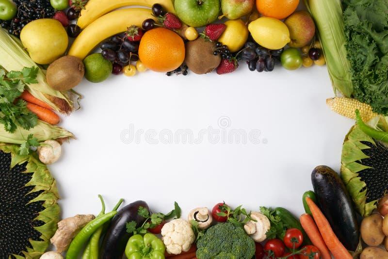 Marco de la fruta y verdura fotos de archivo libres de regalías