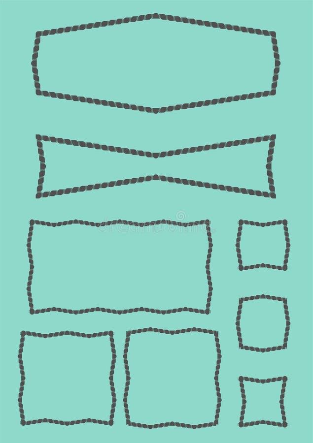 Marco de la geometría ilustración del vector