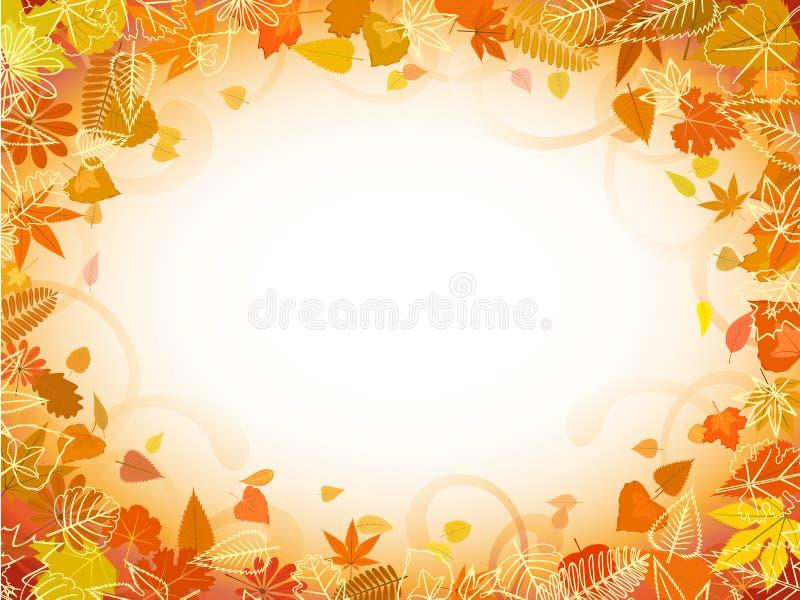 Marco de la hoja del otoño con el espacio para el texto libre illustration