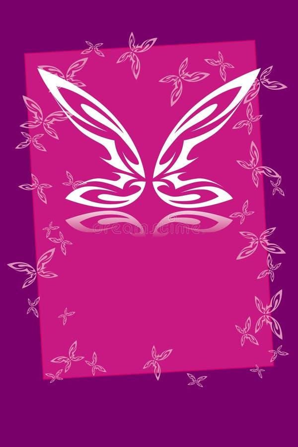 Marco de la mariposa stock de ilustración