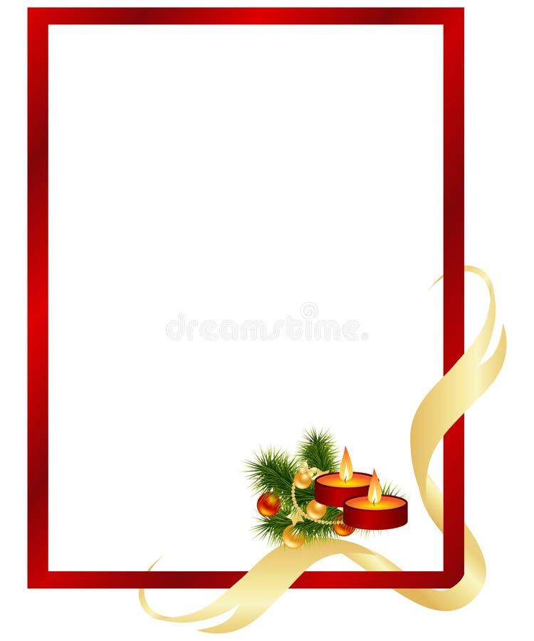 Marco de la Navidad ilustración del vector