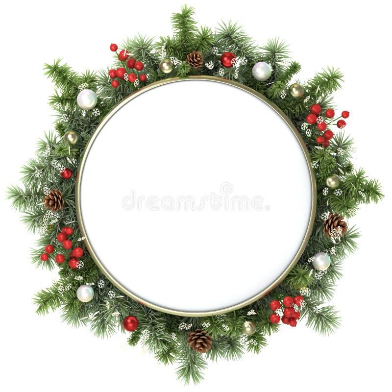 Marco de la Navidad. ilustración del vector
