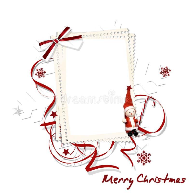 Marco de la Navidad blanca stock de ilustración