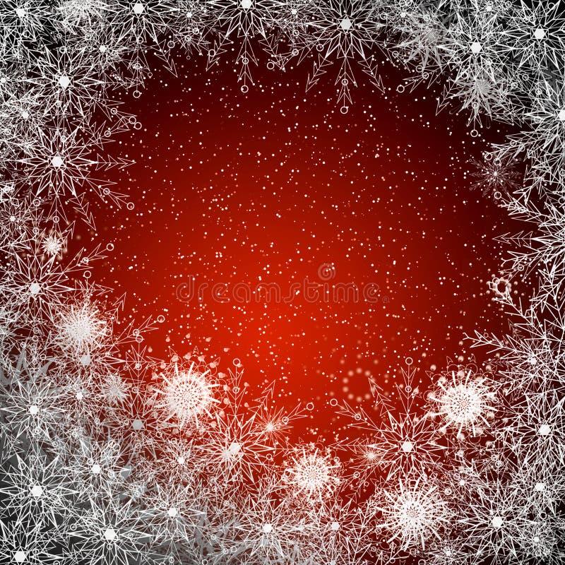 Marco de la Navidad de copos de nieve libre illustration