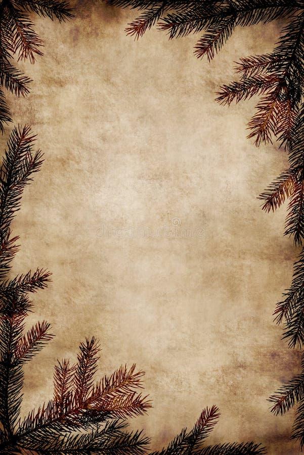 Marco de la Navidad de la vendimia fotografía de archivo libre de regalías