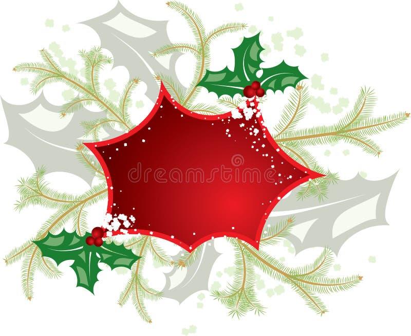 Marco de la Navidad del muérdago, elementos para el diseño, vector ilustración del vector