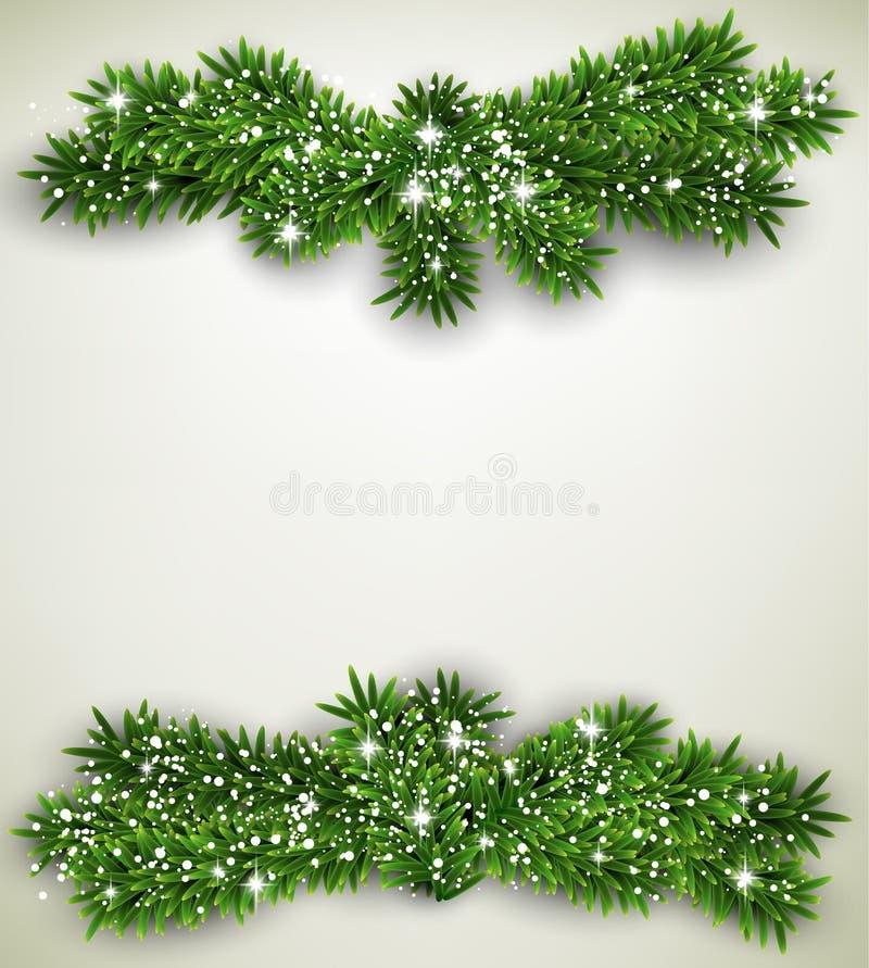 Marco de la Navidad del paquete del abeto. libre illustration