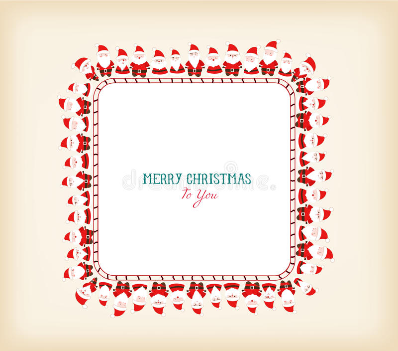 Marco de la Navidad del vintage con Papá Noel libre illustration
