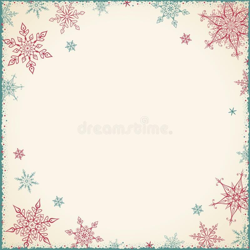 Marco de la Navidad del vintage - ejemplo Cuadrado vacío del marco del vintage libre illustration