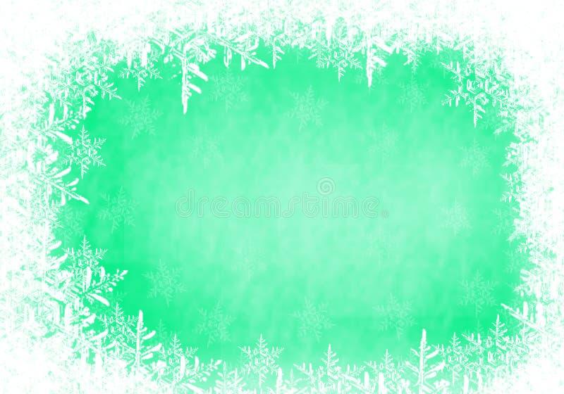 Marco de la nieve fotografía de archivo