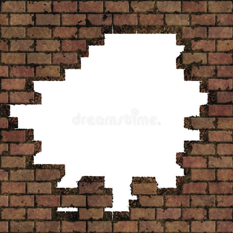 Marco de la pared de ladrillo imagen de archivo
