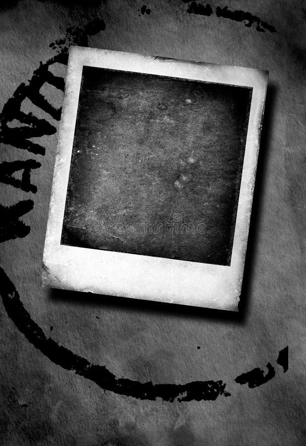 Marco de la polaroid de la vendimia stock de ilustración