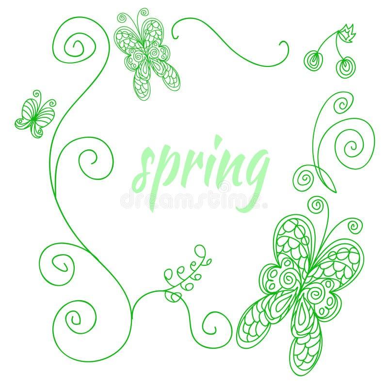 Marco de la primavera libre illustration