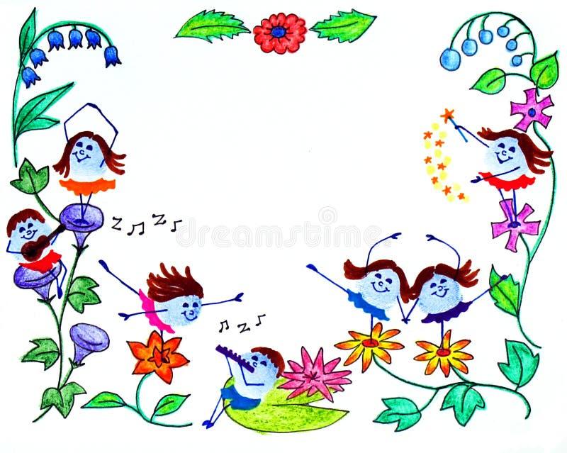 Marco de la tarjeta de felicitación stock de ilustración