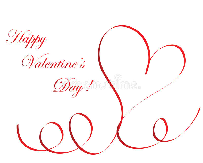 Marco de la tarjeta del día de San Valentín ilustración del vector