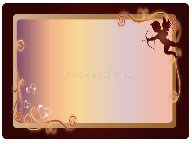 Marco de la tarjeta del día de San Valentín libre illustration