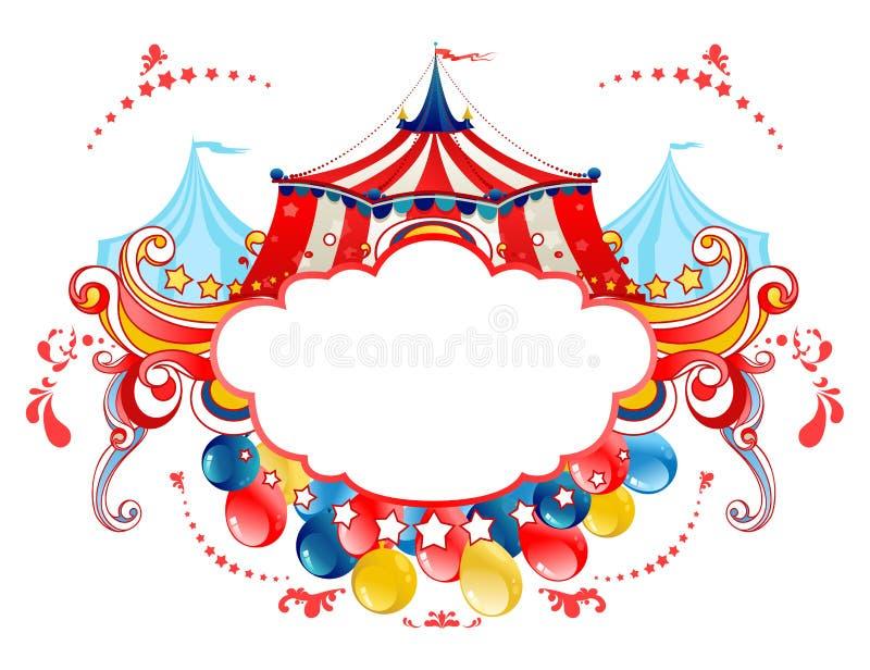Marco de la tienda de circo stock de ilustración