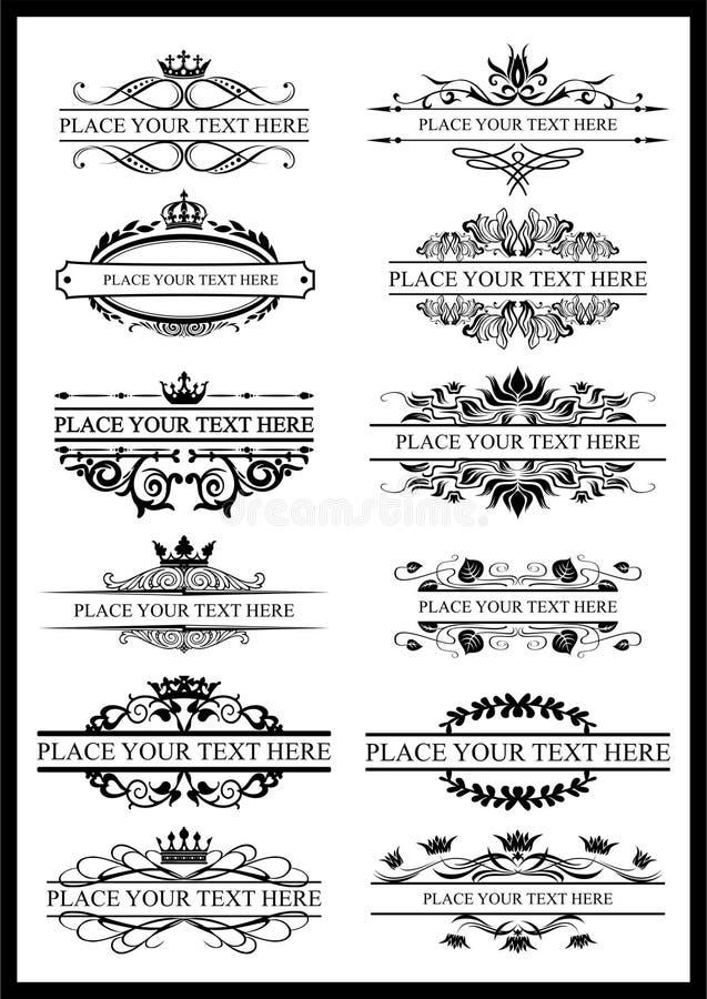 Marco de la vendimia ejemplo, ornamento Para el texto libre illustration