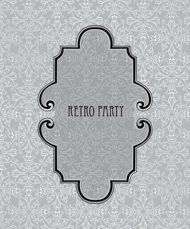 Marco de la vendimia Textura inconsútil del brocado retro libre illustration