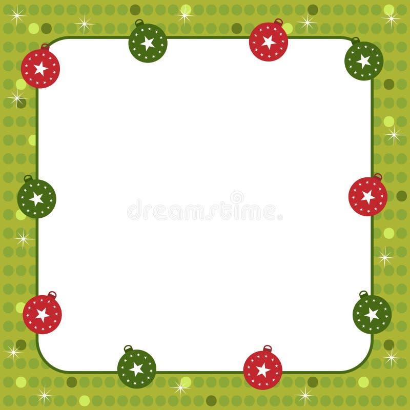Marco de las bolas de la Navidad stock de ilustración