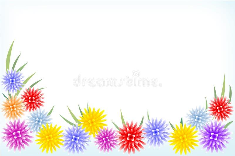 Marco de las flores ilustración del vector