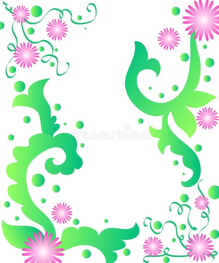 Marco de las flores stock de ilustración